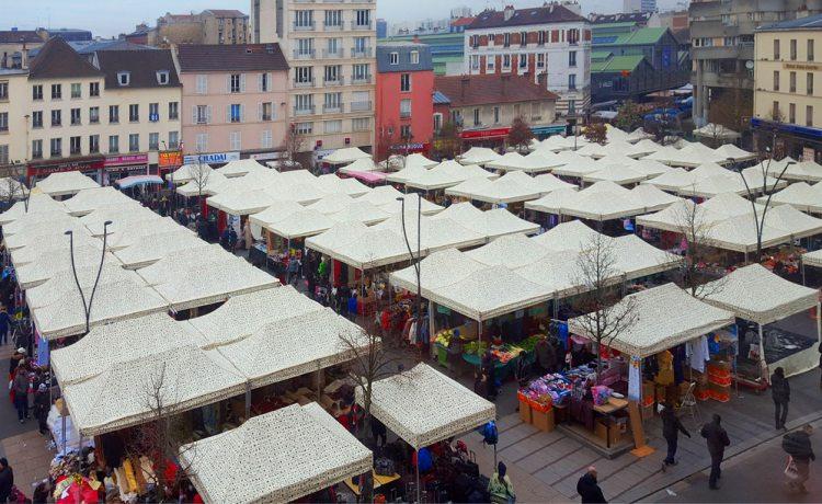 tentes pliantes V3 PRO du marché de Saint-Denis