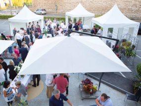Tentes pliantes V3 garden à l'apéritif de lancement des 30 ans du Clémenceau