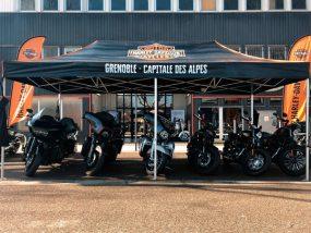 barnum pliant de Harley Davidson Grenoble