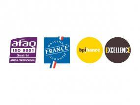 VITABRI est aujourd'hui la seule entreprise européenne de son secteur d'activité à combiner la certification ISO 9001, le label Origine France Garantie et le label BPI France Excellence