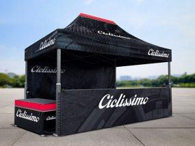 Tentes pliantes V2 4x6m pour Ciclissimo, réseau de magasins de vélos multimarques en Suisse