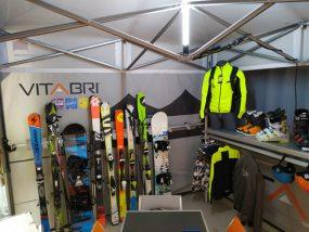 tente pliante V5 au congrès des domaines skiables de France