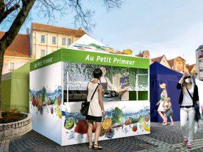 équipement commercial mobile extérieur respectant les mesures sanitaires