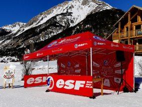 tente pliante V3 PRO de l'école de ski de Névache Vallée de la Clarée