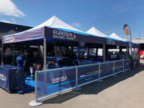 tentes haut de gamme V2 5x5m de Eurosol Racing Team