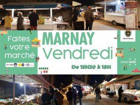 Nouveaux horaires du marché de Marnay en raison du couvre-feu