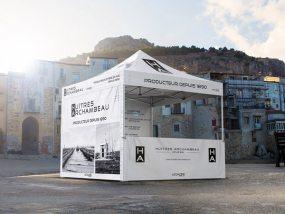 Tente pliante V3 PRO 3x3m pour les huitres Archambeau, producteur de père en fils depuis 1890