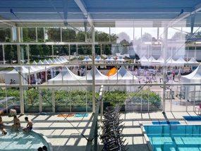 """tentes pliantes V3 garden à la première journée d'information grand public """"Activités physiques, alimentation et cancer"""""""