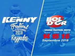 Retrouvez-nous au Kenny festival et au Bol d'or