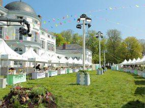 tentes pliantes V3 garden en place lors de l'émission Le meilleur pâtissier