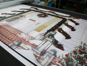 confection de tentes pour le marché de Noël d'Issy-les-Moulineaux