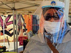 masques de protection pour les commerçants de marché