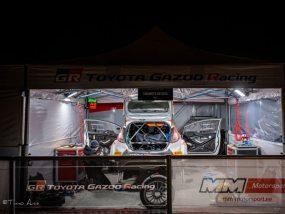 tentes pliantes V2 du team MM Motorsport au rallye de Monte-Carlo