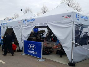 tentes pliantes V2 au rallye Monte-Carlo