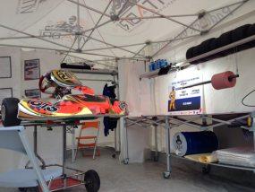 Tente pliante V3 pro au rassemblement national des Écoles Françaises de Karting