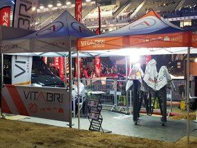 tentes pliantes V3 et V5 au supercross de Paris