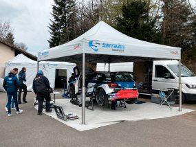 tente paddock de Sarrazin Motorsport