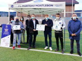 tente pliante V3 PRO du FC Morteau Montlebon lors de la remise des labels Jeunes Excellence et EFF Bronze