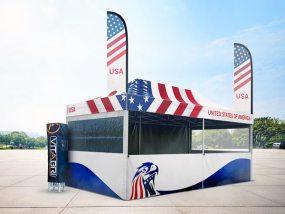 Tente pliante V3 PRO 3x6m pour la délégation américaine du siège de l'OTAN