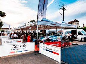 tentes paddocks de la 208 Rally Cup au rallye Castine Terre d'Occitanie