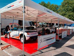 tentes paddocks de la 208 rally cup au rallye terre de Langres