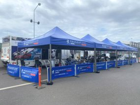 tentes paddocks du team Brian Madsen (Peugeot Sport)