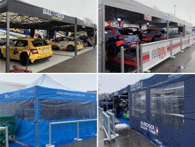 tentes paddocks V2 au rallye de Monza