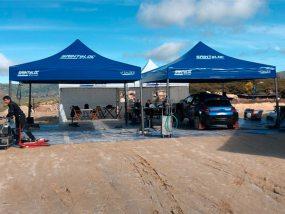 tentes paddocks de Saintéloc Racing