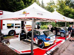 tentes paddocks de Sébastien Loeb racing