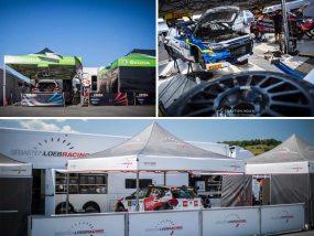 tentes pliantes V2 au rallye Aveyron Rouergue Occitanie