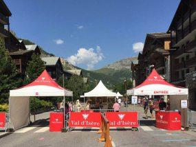 tentes pliantes v3 garden du marché des artisans et producteurs alpins de Val d'Isère