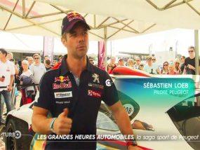 Sébastien Loeb interviewé sous une tente pliante V2
