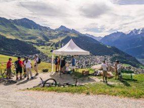 tente pliante V3 garden au Verbier E-bike Festival