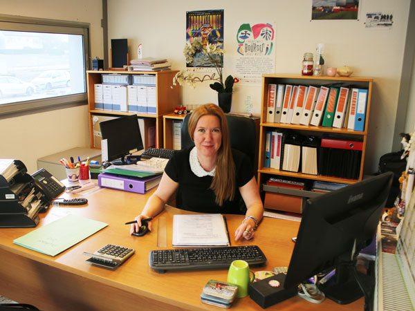 Audrey, responsable du service location