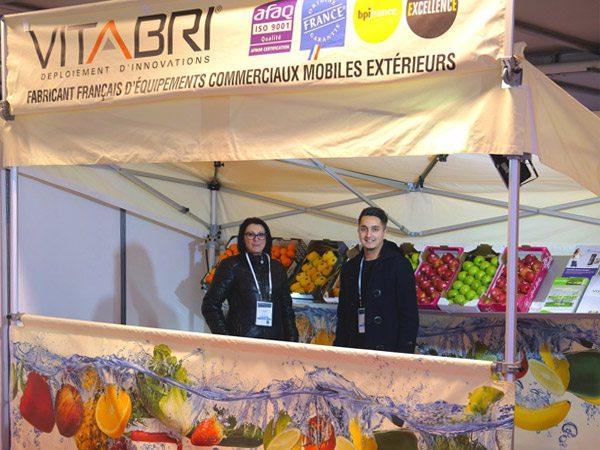 Nous sommes aux journées agencement des points de vente et marchés fruits et légumes organisées par le CTIFL au MIN de Toulouse les 9, 10 et 11 mars