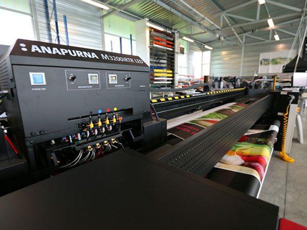imprimante grand format LED à séchage UV