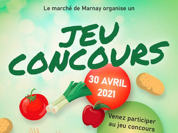 Jeu concours au marché de Marnay