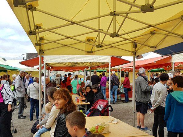 tentes pliantes V3 PRO du marché de Saône