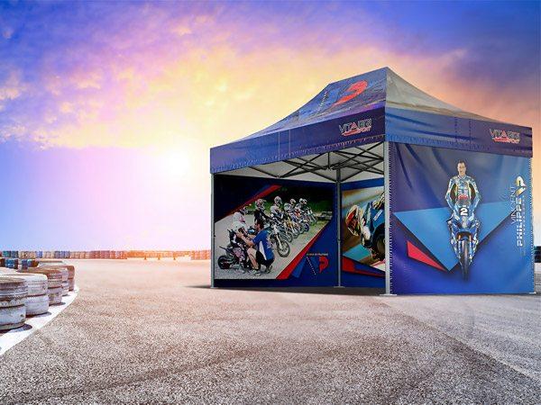 Tente pliante V5 3x4,50m PVC pour Vincent Philippe