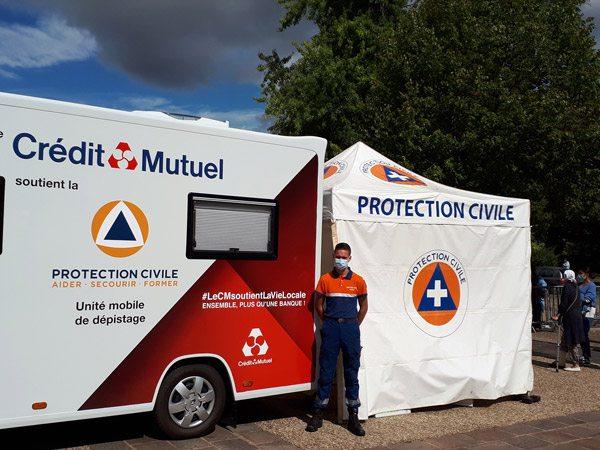 tente pliante V3 PRO de la protection civile de la Mayenne