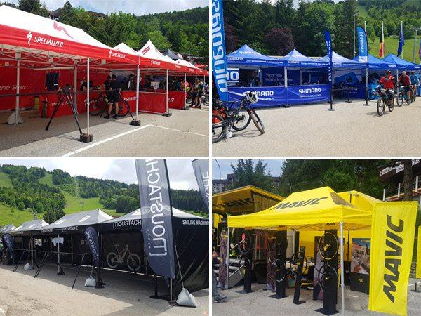 tentes pliantes Vitabri au Vélo Vert Festival