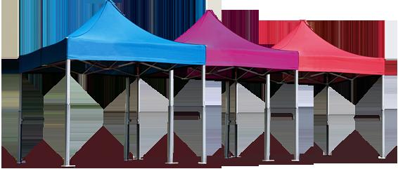 tentes pliantes V2 de couleurs différentes